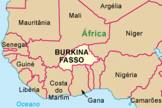 MAPA DO BURKINA FASO (Foto: Angop)