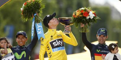 Christopher Froome (centro) (REUTERS/Benoit Tessier)