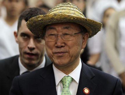 "Ban Ki-moon disse estar ""profundamente impressionado"" com força de Fidel Castro"
