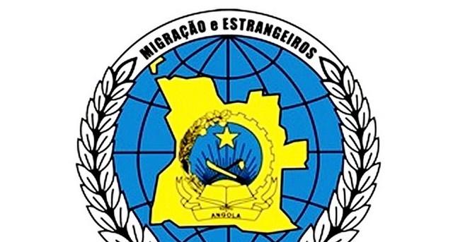 Insígnia dos Serviços de Migração e Estrangeiros de Angola (Foto: Tarcísio Vilela)