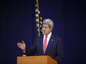 O secretário de Estado norte-americano, John Kerry, se encontra hoje com membros do governo da Ucrânia. (REUTERS/Akintunde Akinleye)