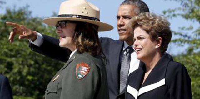 Em Washington, Dilma visita com Obama o Memorial de Martin Luther King
