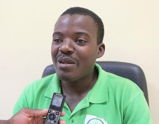 HUAMBO: JOÃO LARA MACUVA - SECRETÁRIO DA BRIGADA JOVEM DE LITERATURA (Foto: Edilson Domingos)