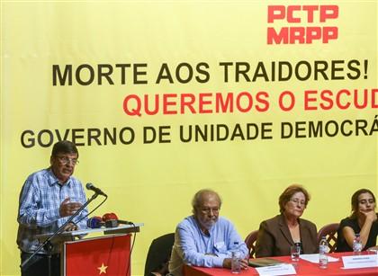 "PCTP/MRPP suspende propaganda com a frase ""Morte aos Traidores"""