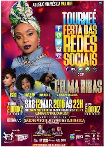 Celma Ribas actua na festa das Redes sociais