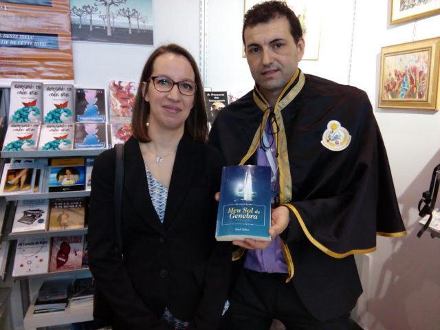 Augusto Lopes, no Salão Internacional do Livro de Genebra