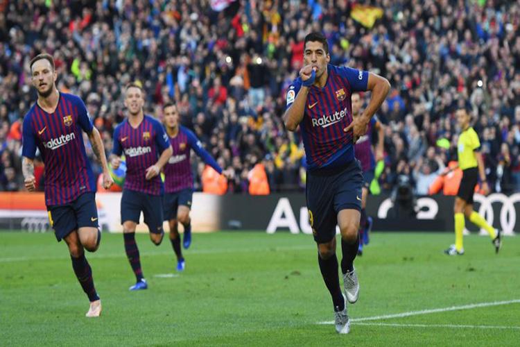 8b7818af1f Luís Suárez apontou um hat-trick no Clássico que acabou com goleada do  Barcelona ao Real Madrid mesmo sem Messi (Getty Images)